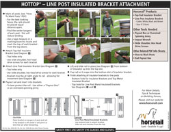 Hottop® Plus - Line Post Insulated Bracket Attachment