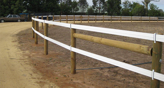 Horserail fencing has been used in Australia for over 18 years by Throughbred establishments, Veterinary Clinics, large farms, small farms and more.